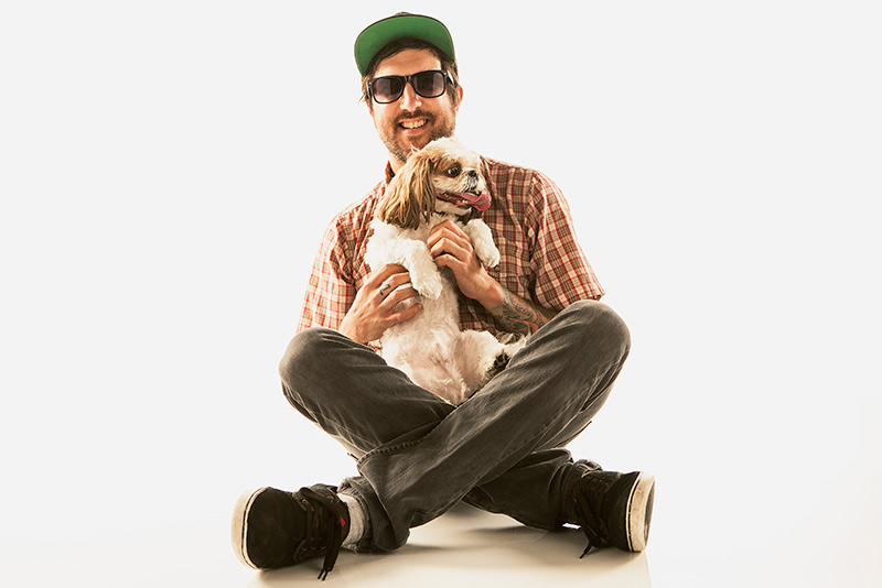PetVet services, man with his dog